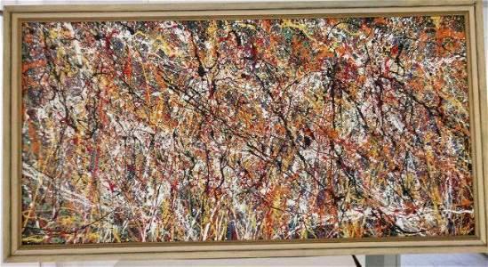 XL Jackson Pollock Abstract Modernist Painting