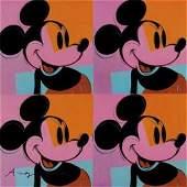 Andy Warhol Pop Art of Original Mickey Mouse