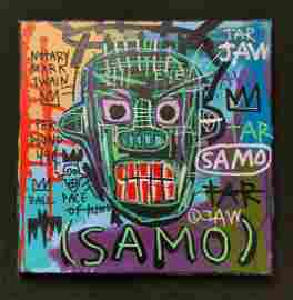 Jean-Michel Basquiat abstract painting