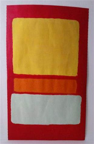 Mark Rothko Mixed Media on Paper. Approx Size: 20 x 15
