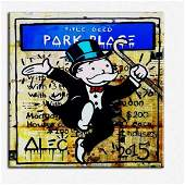 Alec Monopoly Print on Canvas. PARK PLACE. Not framed.