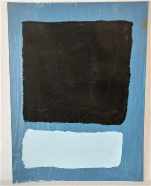 Mark Rothko Mixed Media on Paper.