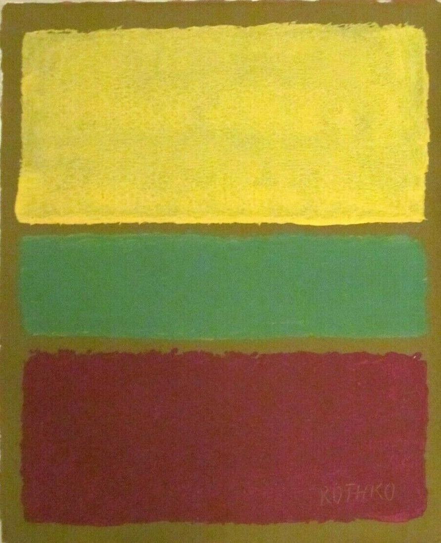Abstract Canvas Signed Mark Rothko