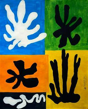 Abstract oil Painting H. Matisse Modern Art on canvas.