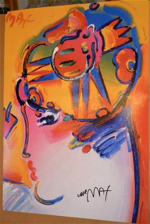PETER MAX POSTER-Sign-PALM BEACH LADY