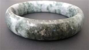 Natural Jade Grey/ Green Bangle Bracelet. Size: 63