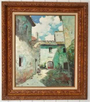 Original Painting oil on canvas by Cruz (signed )
