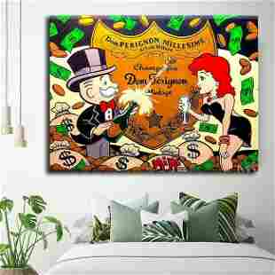 Alec Monopoly Canvas Graffiti Print