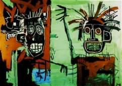 Jean Micheal Basquiat Print on Canvas