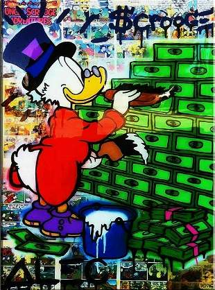 Alec Monopoly Print on Canvas. Not framed. size: 30 x