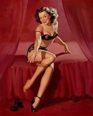 Vintage Style Elvgren Print on Canvas Sign Size:12x15
