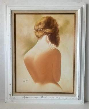 Nude Women Original Hand Painting on Canvas Signed
