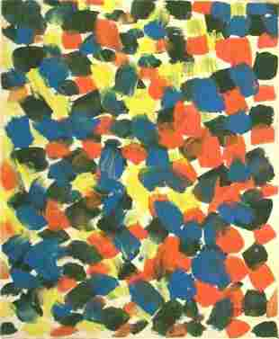 Abstract Canvas Signed Riopelle Modern