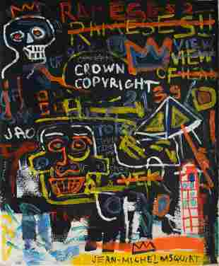 Abstract Canvas Signed Jean-Michel Basquiat