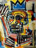 Jean-Michel Basquiat Modern abstract oil on canvas