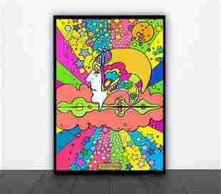 PETER MAX POSTER-Sign-psychedelic 60s print