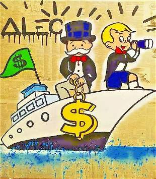 Alec monopoly Print on Canvas.In the Style Of. Canvas