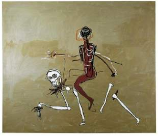 Jean Michel Basquiat OffSet Print.size 24 x 24 No