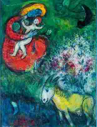 MARC CHAGALL PRINTS LAMINATED. Size 8 x 10