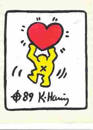 Keith Haring (American, 1958 -1990) - Mixed Media