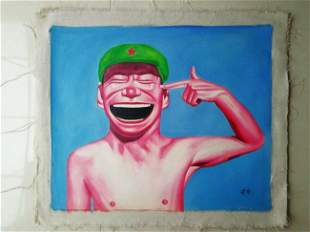 Modern Oil Painting on Canvas Ancient Big Smile