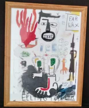 Jean Michel Basquiat Print with frame