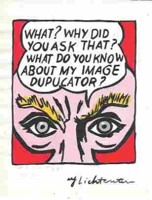 Roy Lichtenstein drawing on Paper