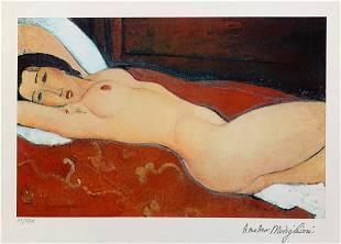Amedeo Modigliani NUDE Facsimile Signed