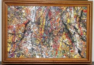 Jackson Pollock Abstract Modernist Painting