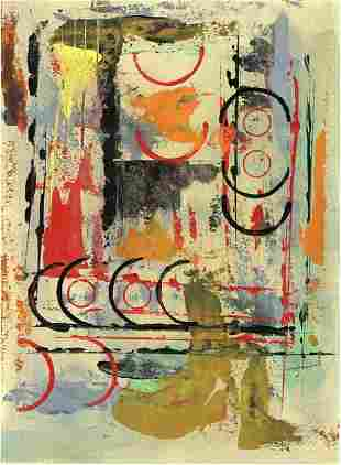 Contemporary Original Abstract Hand Painting signed ,