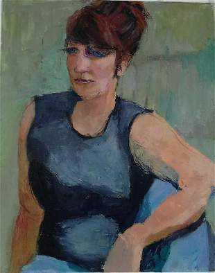 Woman Portrait Acrylic Hand Painting on Canvas Aprox