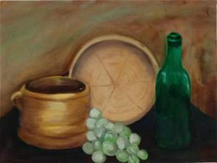 Still Life oil Painting On Canvas Panel.outsider