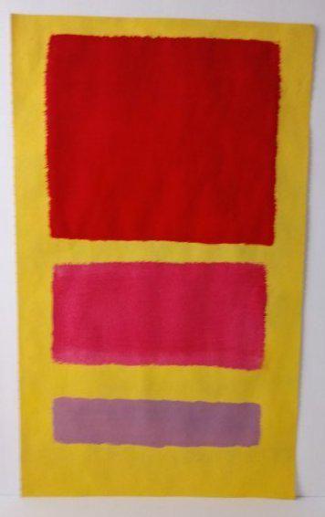 Mark Rothko Mixed Media on Paper. Approx Size: 20 x 15