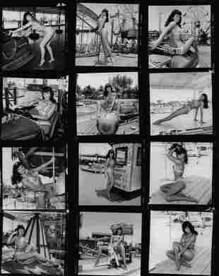 B & W Bettie Page Photo Print Size 8 x 10 Inches. Black