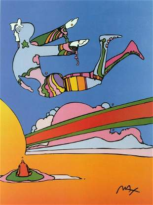 PETER MAX POSTER- COSMIC FLYER COLORFUL