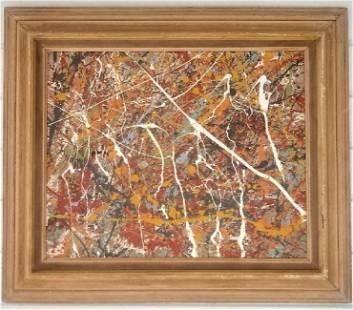 Jackson Pollock Abstract Painting on Canvas