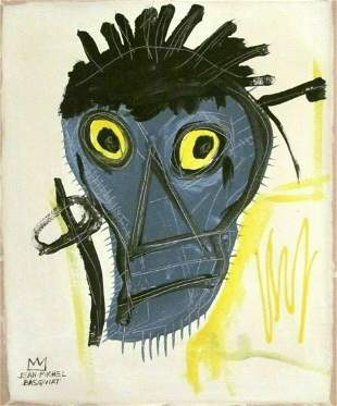 Jean-Michel Basquiat abstract painting on Canvas
