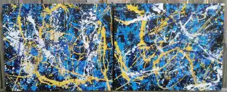 Jackson Pollock Abstract (2)Painting on Canvas