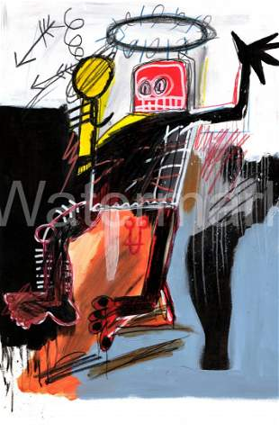 Jean Micheal Basquiat Print on Thick Paper