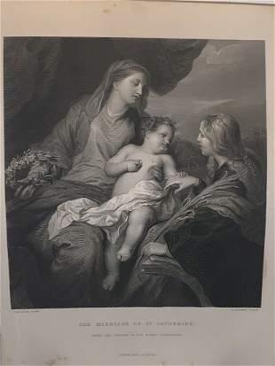 CHRISTIAN VIRGIN ST SAINT CATHERINE OF ALEXANDRIA 1858