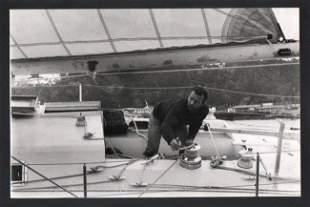 B&W Vtg -Photo. 1970s Pen Duck V Ocean Yacht Racing