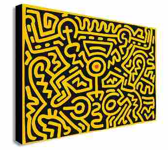Keith Haring - Number IV - Pop Art - Canvas