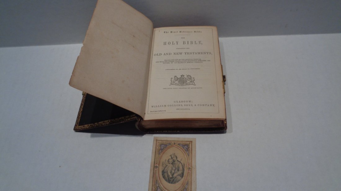 Antique 1865 Pearl Reference Bible - Glasgow: William C - 5