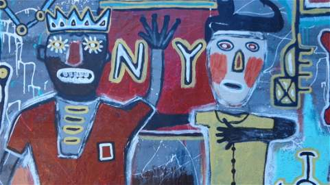 Large Contemporary Art - Basquiat - Painting Pop Art