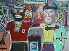 Large Contemporary Art  Basquiat  Painting Pop Art
