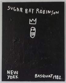Contemporary Art-Basquiat-Painting Style-Sugar Ray Robi