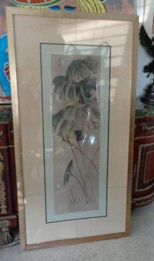 Vintage Chinese Midcentury Signed Original Ink Painting