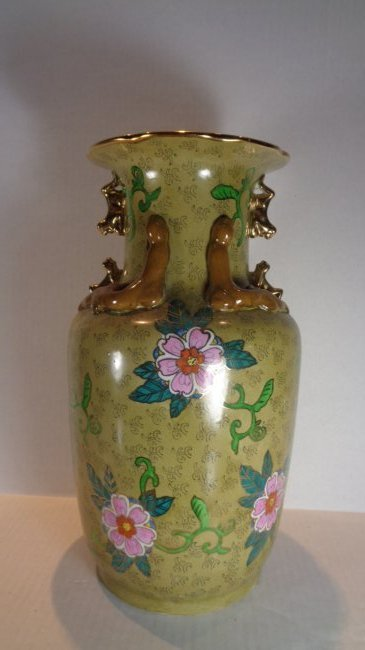 "Chinese Porcelain Rose Vase 14""H"