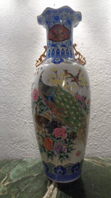 """Chinese Porcelain Famille Rose Medallion Vase 44""""H"""