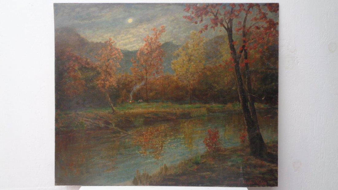 Vintage Landscaping on Masonite Henrry Vanden Velde